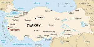 Map, Ephesus