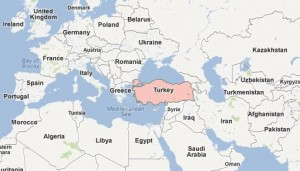 Map, Turkey